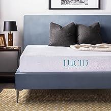 LUCID 10 Inch 2019 Gel Memory Foam Mattress - Medium Firm Feel - CertiPUR-US Certified (Twin)