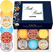 HOVNEE Bath Bombs Gift Set 6 packs, Perfect for Bubble & Spa Bath. Fizzy Spa to Moisturize Dry Skin, Handmade Birthday, Christmas day Gifts For Her/Him