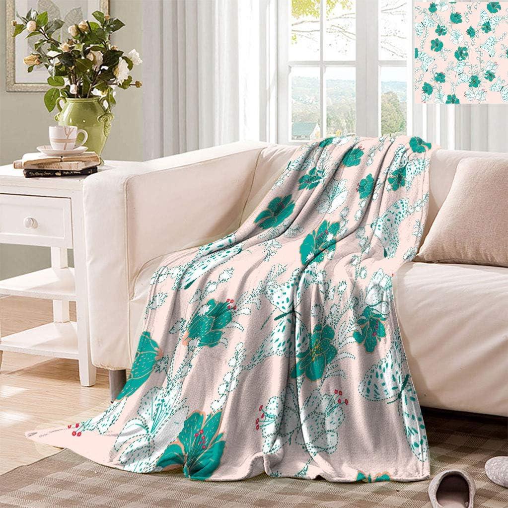 Datiansun Floral Twin Size Fleece New product type Luxury goods Sotf Blanket Background Sweet