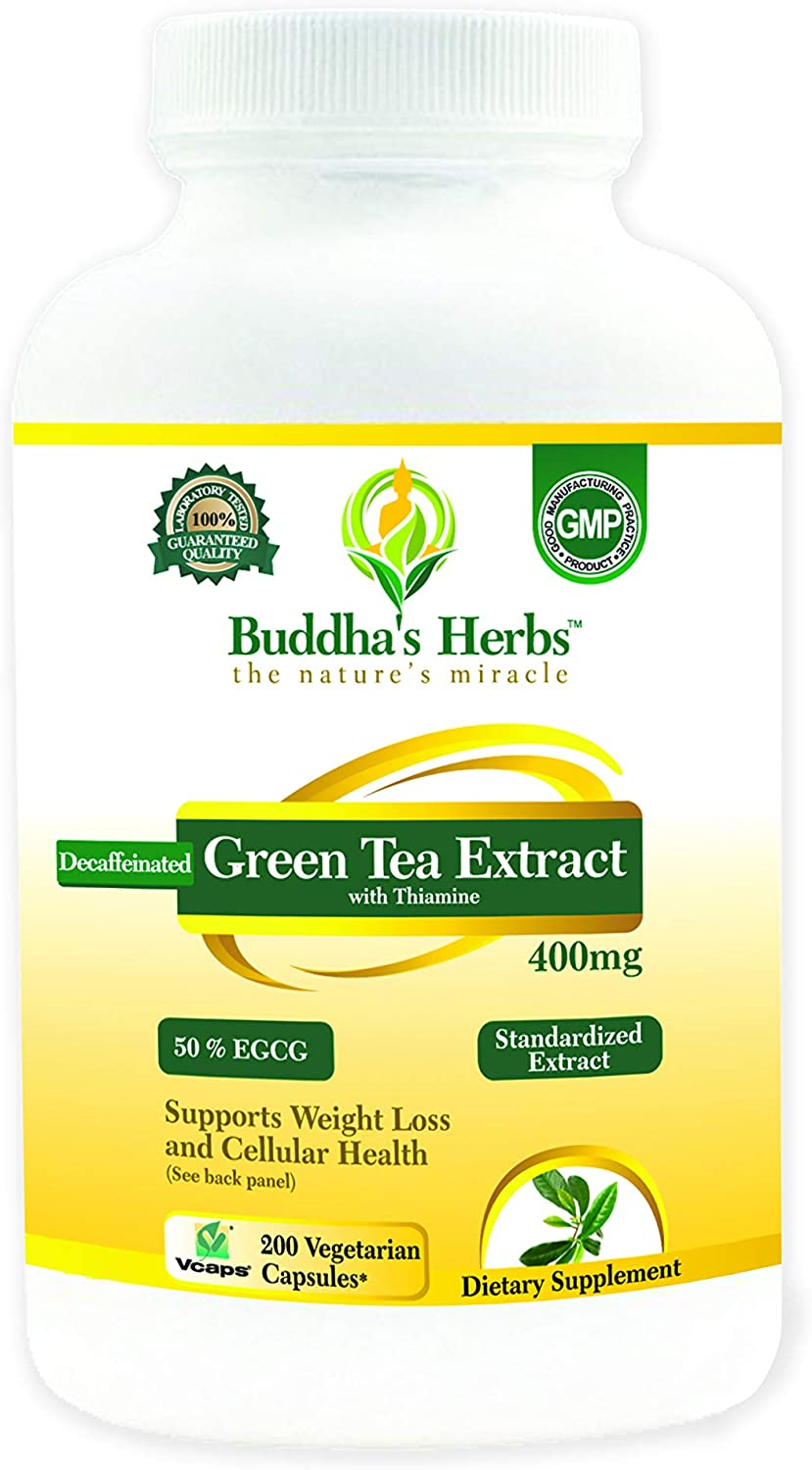 Decaffeinated Green Tea Extract - 400mg Max 77% OFF Veg 50% 200 EGCG Cap Don't miss the campaign