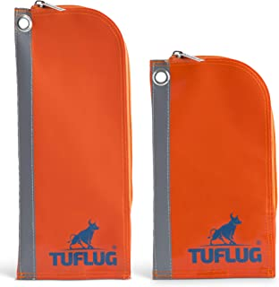 TUFLUG Heavy Duty Tool Zipper Pouches | 2 Pack | 12 and 9inch | Waterproof PVC Material | Lightweight | Multipurpose Utility Bag | Carry Case For Small Tools | Tool Pouches | Accessory for Tool Belts