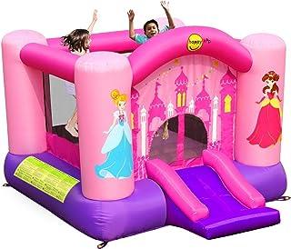 Happy Hop Pink Princess Castillo hinchable y diapositiva