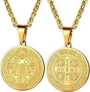 Saint Benedict Cross Religious Medal Pendant Necklace Catholic Gift