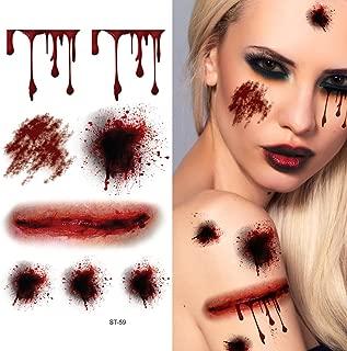 Supperb Temporary Tattoos - Bleeding Wound, Scar Halloween Halloween Tattoos