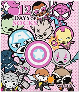 Marvel 12 Days of Socks Advent Calendar Gift Set (Womens)