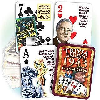 Flickback Media, Inc. 1943 Trivia Playing Cards: Great Birthday