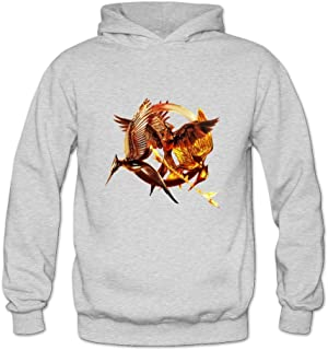 Crystal Women's The Hunger Games The Three Mockingjays Long Sleeve Hoodie Hooded Ash US Size S