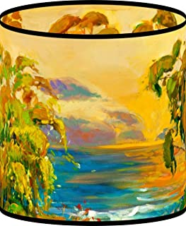 LampPix 10.5 Inch Custom Printed Table Desk Lamp Shade Weeping Willows at Sunset (Spider Fitting)
