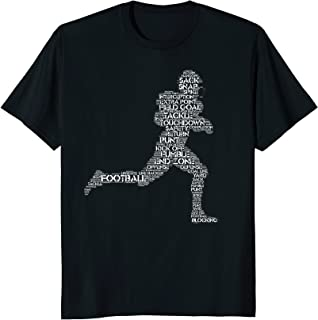 Football Word Cloud Silhouette T-Shirt