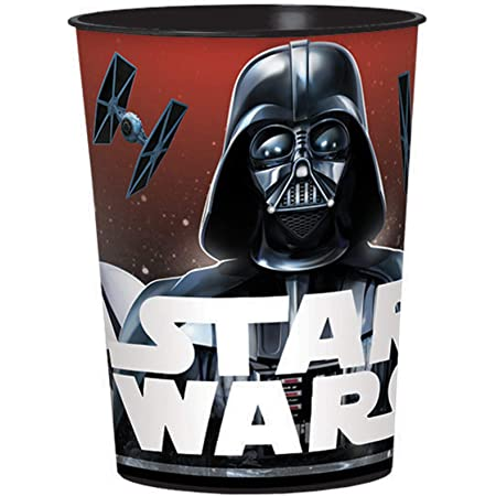 ONE STOP 6 Star Wars Yoda Chewbacca Stickers Birthday Sipper Cups with lids Party Favor Cups Darth Vader