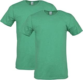 Gildan Mens G64000 Fitted Cotton T-Shirt, 2-Pack Short Sleeve Shirt