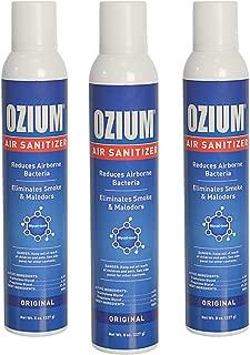 Ozium 805539 Sanitizer Reduces Airborne Bacteria Eliminates Smoke & Malodors 8oz Spray Air Freshener, Original, 3 Pack