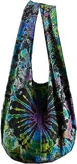 BTP! Tie Dye Sling Crossbody Shoulder Bag Purse Hippie Hobo Cotton Bohemian - Firework VE1