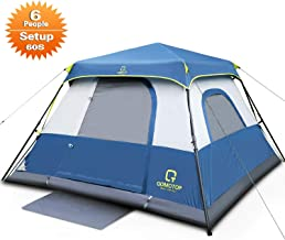 QOMOTOP 4/6/10 Person Instant Cabin Tent, 60 Seconds Easy...