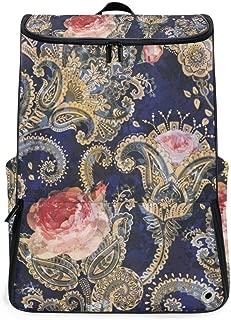 Laptop Backpack Vintage Victorian Roses Paisley Gym Backpack for Men Big Carry On Back Pack