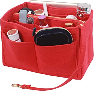SheYang Tote Shaper, Fit LV Speedy, Longchamp, Tote & Purse Organizer Insert, Felt Bag organizer with zipper, Handbag