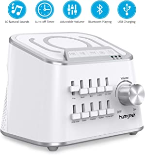 White Noise Machine, Homgeek Noise Sound Machine,10 Relaxing & Soothing Nature Sounds, Stress and Anxiety Relief, Portable Sleep Therapy for Home, Baby & Travel, Auto-Off Timer
