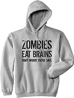 Zombies Eat Brains So Youre Safe Hoodie Funny Costume Halloween Sweatshirt