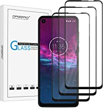 [3 Pack] Orzero Tempered Glass Screen Protector Compatible for Motorola One Action [Full Adhesive], 2.5D Arc Edges 9 Hardness HD Anti-Scratch Full-Coverage [Lifetime Replacement]