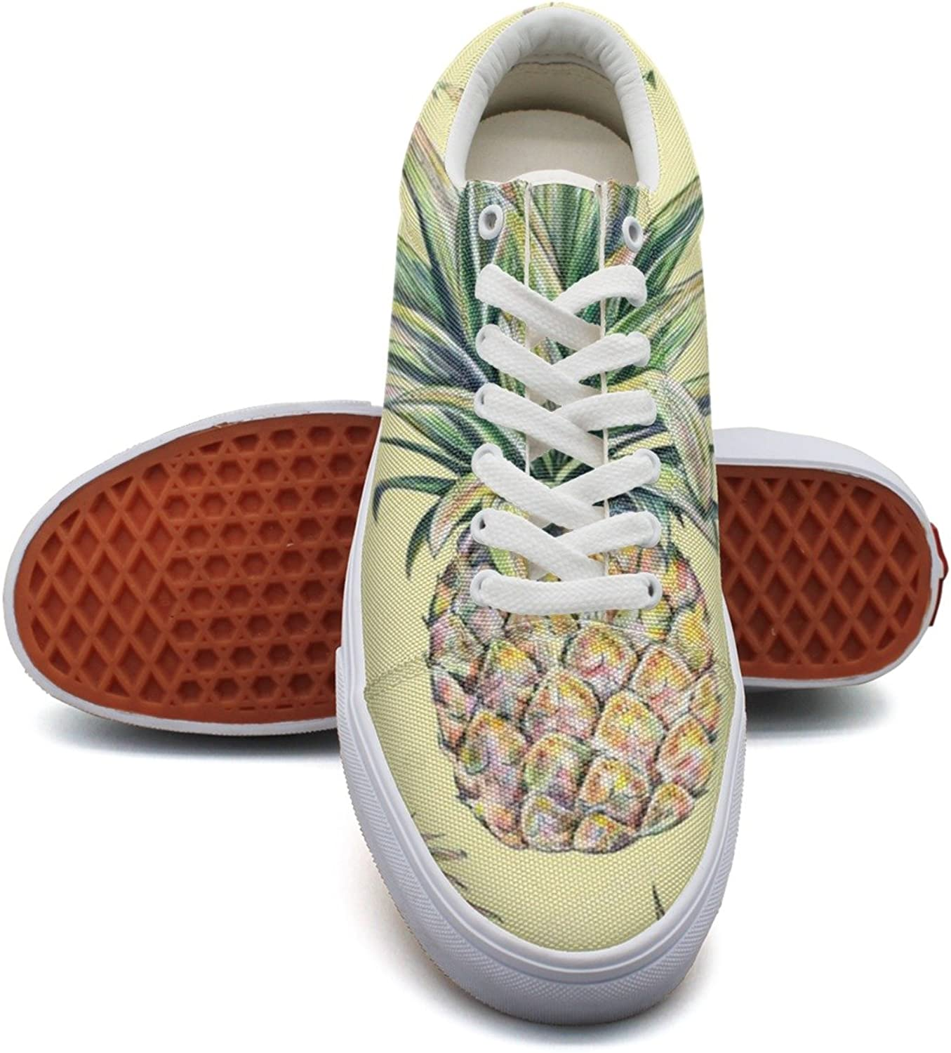 Pineapple On A Yellow Background Women's Casual shoes Flat Cool News Comfortable
