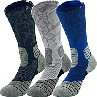 Beenut Elite Basketball Athletic Sports Outdoor Socks, Compression Crew Socks,Men Women Boys