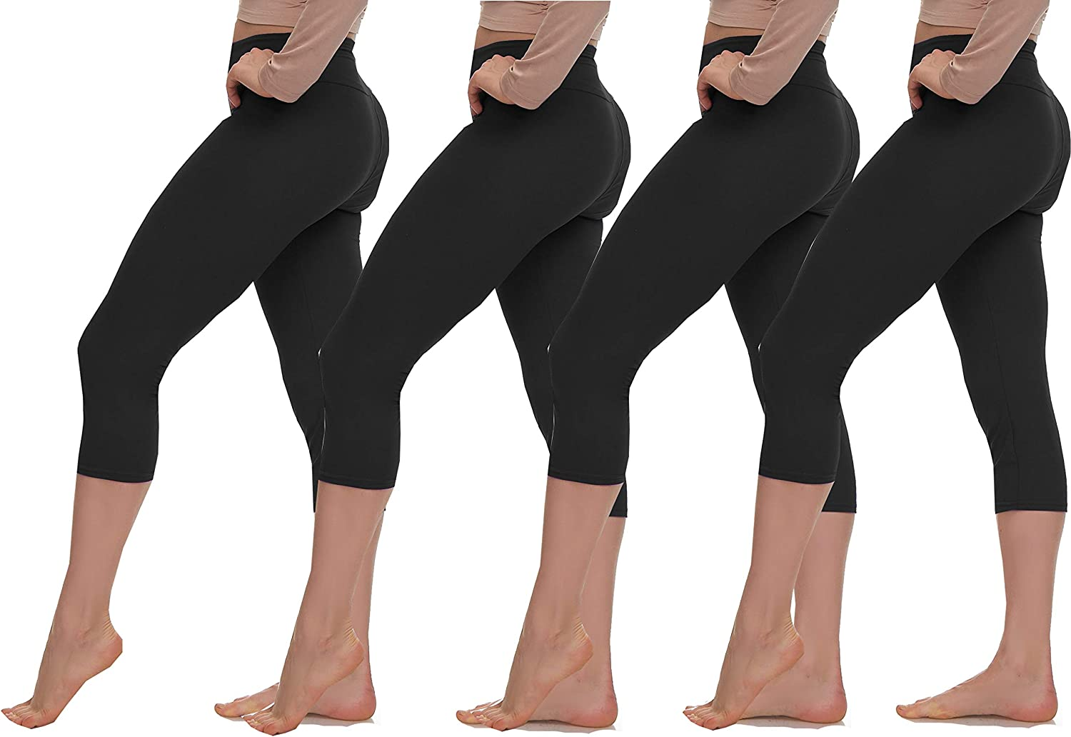 LMB Ranking TOP10 Capri Leggings for Women with - Tummy Control Direct stock discount High and Wast