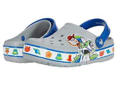Crocs Kids Funlab Lights Toy Storytm 4 Clog (Toddler/Little Kid) (Light Grey) Boy