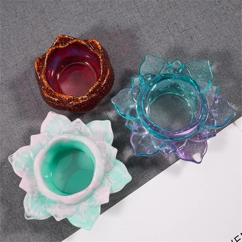 Candle Manufacturer OFFicial shop Holder Molds Tealight Flower Candles Max 44% OFF Lotus