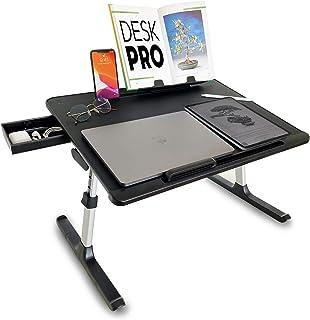 Cooper Desk PRO [XL Adjustable Folding Laptop Desk] - Height & Tilt Angle | Leather Top for Work, Study, Bed | Reading Sta...