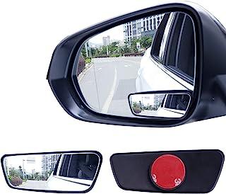 آینه لکه کور مستطیلی مستطیل Livtee ، آینه شیشه ای HD و ABS محفظه بازتابنده آینه عقب با چوب قابل تنظیم برای ماشین جهانی (2 عدد)