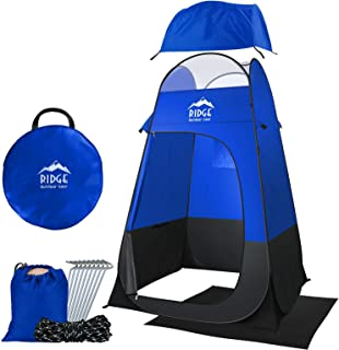 Ridge Outdoor Gear 6.5ft Pop Up Changing Shower Privacy Tent – Portable Utility Shelter Room with rainfly Ground Sheet for Camping Shower Toilet Bathroom Trade Shows Beach Spray tan popup