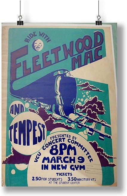 Fleetwood Mac In Concert 1969 At Fillmore East  A0 A1 A2 A3 A4 poster