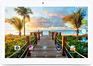 10 Inch Android 7.0 Nougat Tablet IPS Glass Screen with Dual Sim Card Slots Octa Core 3G Unlocked Phone 4GB RAM 64GB ROM Built in WiFi Bluetooth GPS (Silver)