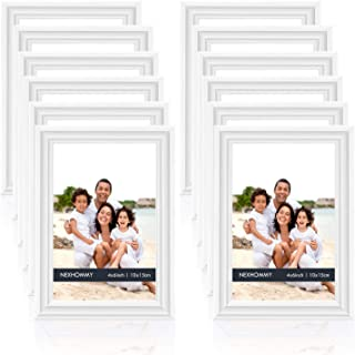 NEXHOMMY 4x6 Picture Frames Set - (12 Pack, White) Basic Designed Photo Frames Collage for Tabletop Display Or Wall Hangin...