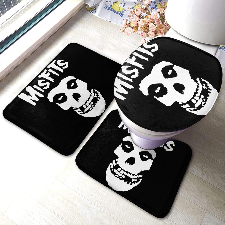 Adsfghrehr Misfits Bathroom Carpet Set Piece New arrival Limited Special Price Bat Cover 3 Cushion