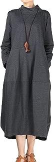 Women's Autumn Turtleneck Long Baggy Dress with Pockets