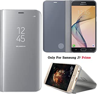 7dda4ed5b73 Guran® Mirror Efecto Espejo Funda para Samsung Galaxy J7 Prime Clear View  Función de Soporte