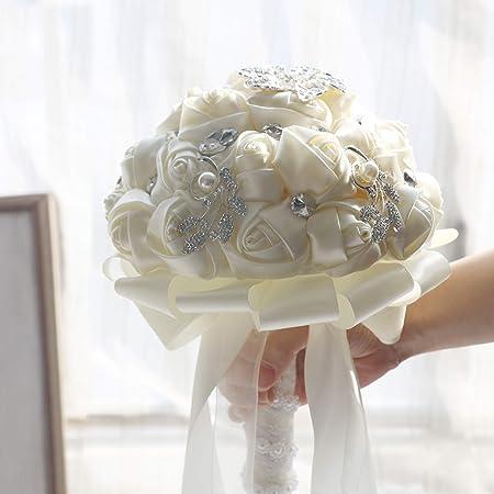 Rhinestone Bridal Bouquet Grey Feather Bouquet Peony Bouquet Elegant Bouquet Brooch Bouquet Silver Pearl Wedding Bouquet