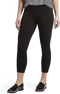 Women's Wide Waistband Blackout Cotton Capri Leggings, Assorted