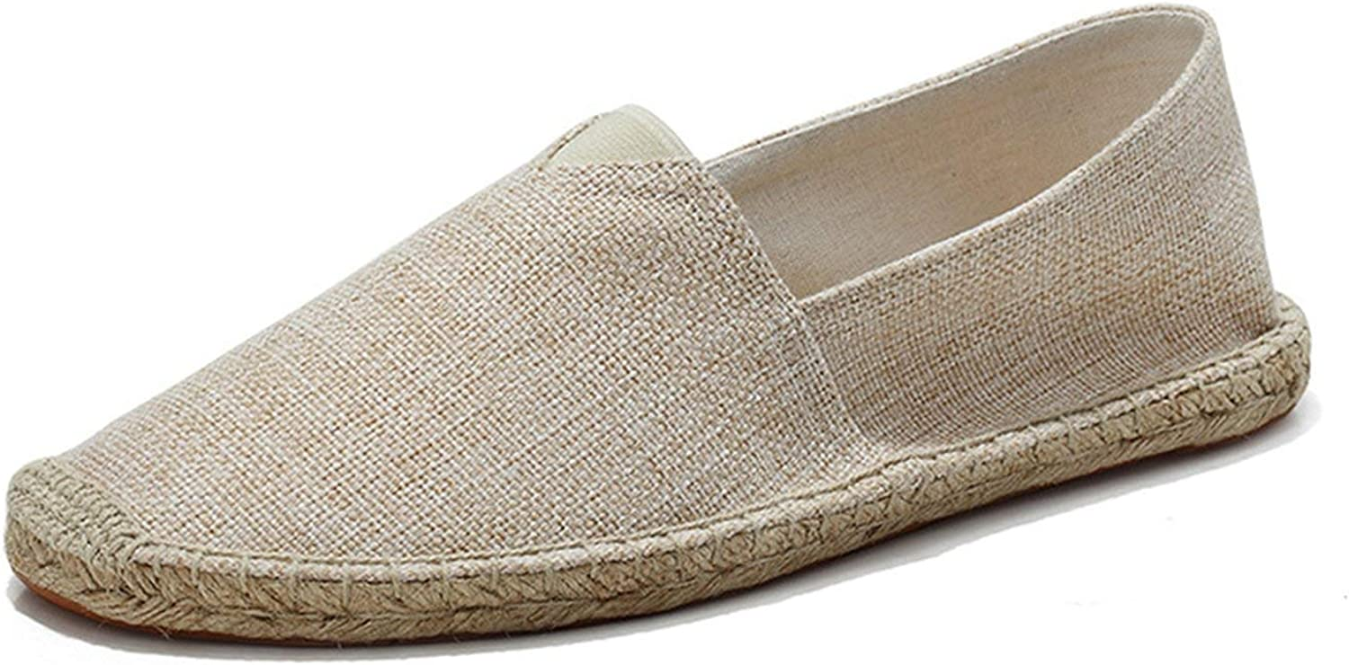 Crazy-shop Women Loafers Flat Boat shoes Fashion Slip On Hemp Spring Casual Comfort Sewing shoes
