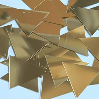 Craft Sequins Selection - Sequin Triangle 40mm Gold Metallic Couture Paillettes - Your Clothing, Stationery, Decor, and More