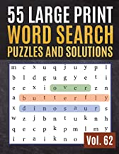 55 Large Print Word Search Puzzles and Solutions: Activity Book for Adults and kids Wordsearch Easy Magic Quiz Books Game for Adults | Large Print (Find Words for Adults & Seniors)