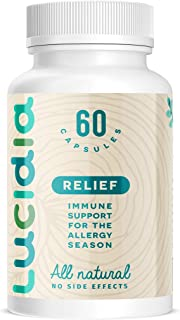 Lucidia Natural Allergy Relief | Alternative Allergy Medication, Childrens Allergy Medicine for Adults Allergy Pills, Anti...