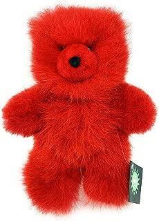 Inca Fashions - 100% Baby Alpaca Fur Teddy Bear - Hand Made - Red Hot - Hypoallergenic & Pillow Soft (10 Inch)