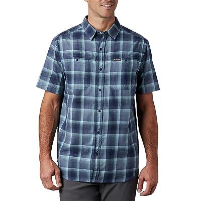 Columbia Leadville Ridgetm Short Sleeve Shirt II (Dark Mountain Ombre Plaid) Men