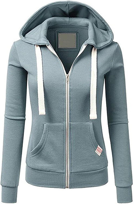 TARIENDY Max 65% OFF Zip Complete Free Shipping Up Hoodie Women Stripe Sleeve Long Lightweight Tops