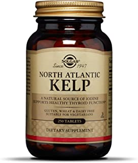 Solgar North Atlantic Kelp, 250 Tablets - Natural Source of Iodine - Supports Healthy Thyroid Function - Gluten Free, Dair...