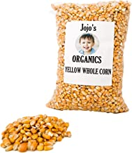 Organic Yellow Whole Corn by JoJo's Organics | Corn Maize USDA Organic Non-GMO Bulk Grains 5 lbs Great for Tamale Masa Tortillas Muffins Chowder 100% Product of USA