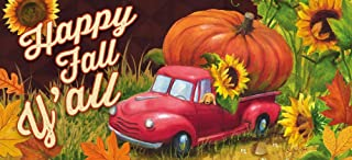 Evergreen Happy Fall Y'all Decorative Mat Insert, 10 x 22 inches