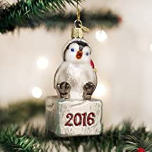 2016 Cheerful Penguin Chick Glass Ornament